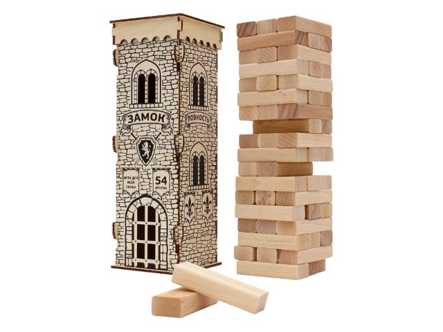 Настольная игра Дженга дерево Башня Замок Miland ДК-2264