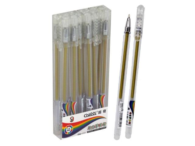 Ручка гелевая Basir CQ-111 золото 0.6мм CQ-111-12-золото
