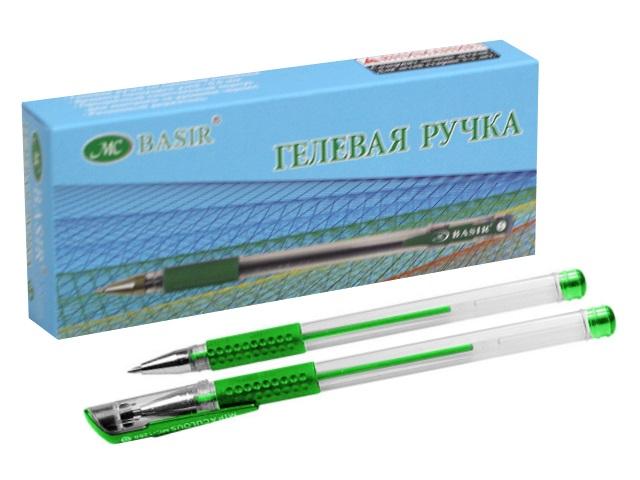 Ручка гелевая Basir МС-1266 зеленая 0.5мм