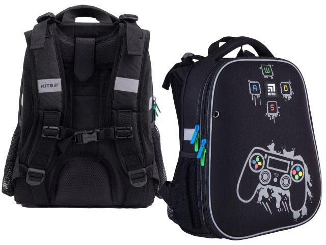 Ранец школьный Kite GoPack Education Gamer 38*29*16см черный K21-531M-2