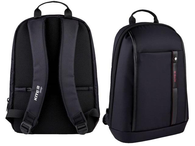 Рюкзак Kite City 37.5*27*9см под ноутбук черный K21-2567S