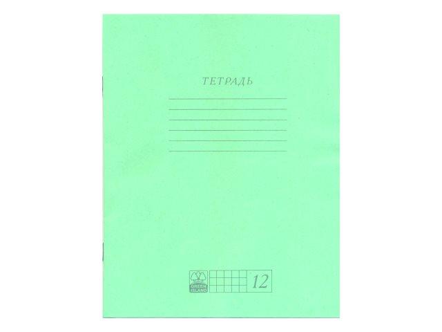Тетрадь 12л клетка АХ Зеленая ЕАС-9314