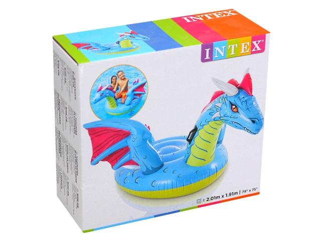 Игрушка-плот Intex 201*191см с держателями Дракон 57563