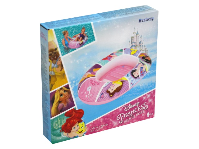 Лодка надувная Bestway Princess Disney 102*69см 91044