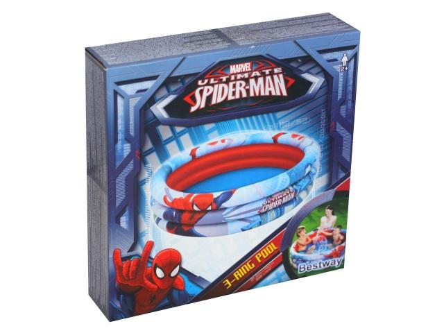 Бассейн Bestway 122*30см Spiderman 3-Ring Pool 98018