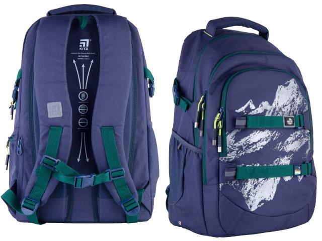 Рюкзак Kite Education Teens 44*30*21см синий + подарок K21-2576L-3