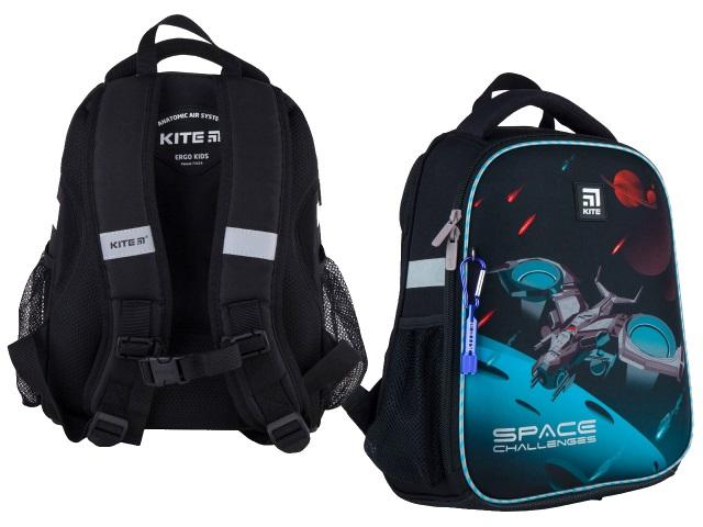 Ранец школьный Kite Education Space challenges 35*26*13.5см серый K21-555S-5