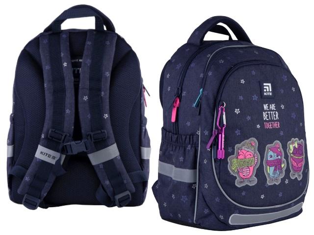 Ранец школьный Kite Education Better together 38*28*16см синий джинс K21-700M-2