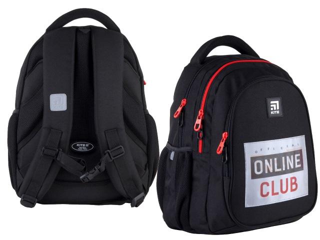 Рюкзак Kite Education Teens 40*29*17см черный + подарок K21-8001M-1
