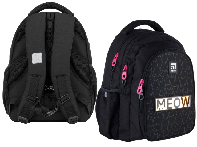 Рюкзак Kite Education Teens 40*29*17см черный + подарок K21-8001M-6