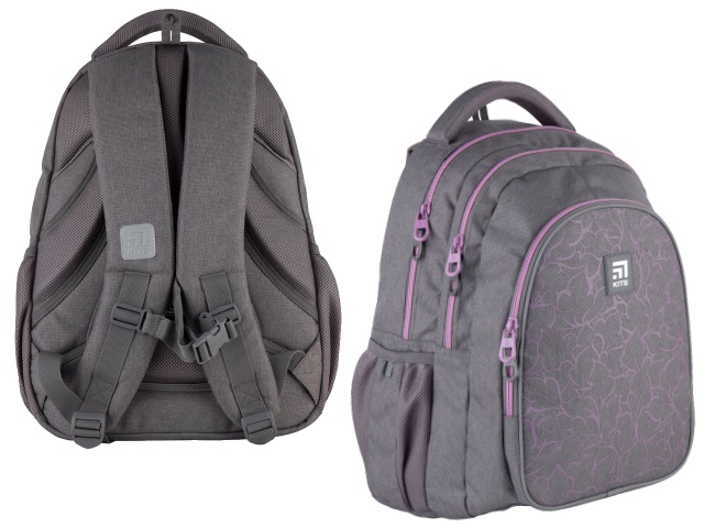 Рюкзак Kite Education Teens 43*33*23см серый + подарок K21-8001L-2