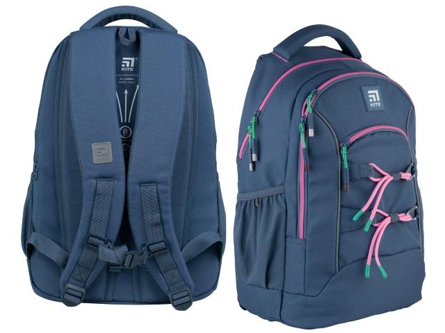 Рюкзак Kite Education Teens 44*31*17см синий + подарок K21-813L-2