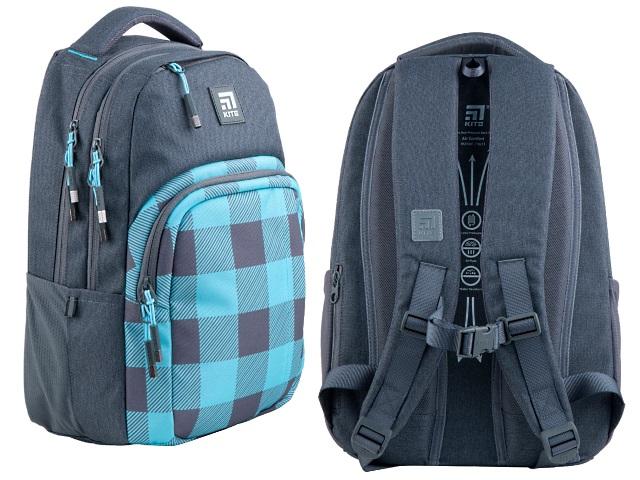 Рюкзак Kite Education Teens 42*30*17см серо-голубой + подарок K21-2578M-4