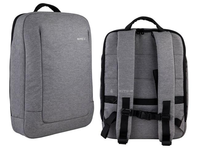 Рюкзак Kite City 40*30.5*7.5см под ноутбук серый K21-2514M-2