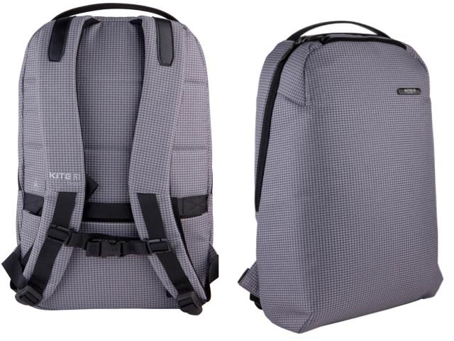 Рюкзак Kite City 44*30.5*11см серый в клеточку K21-2515L-1