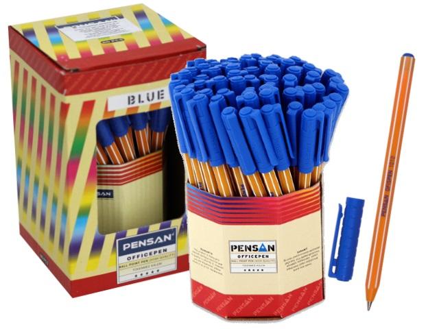 Ручка шариковая Pensan Officepen синяя 1мм 1010blue
