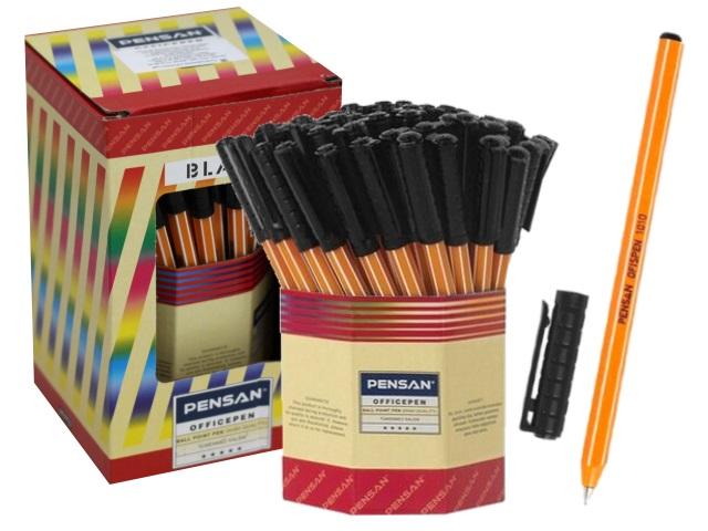 Ручка шариковая Pensan Officepen черная 1мм 1010black
