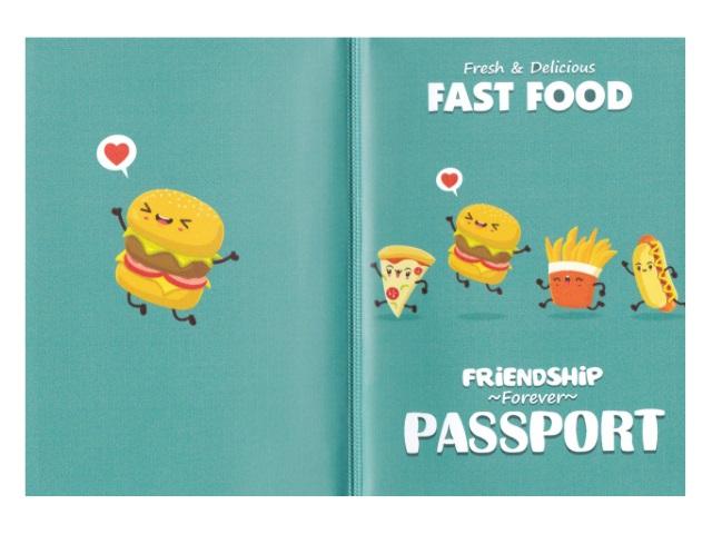 Обложка для паспорта ПВХ Miland Fast food ОП-4484