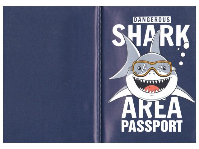 Обложка для паспорта ПВХ Miland Акула-улыбака ОП-4487