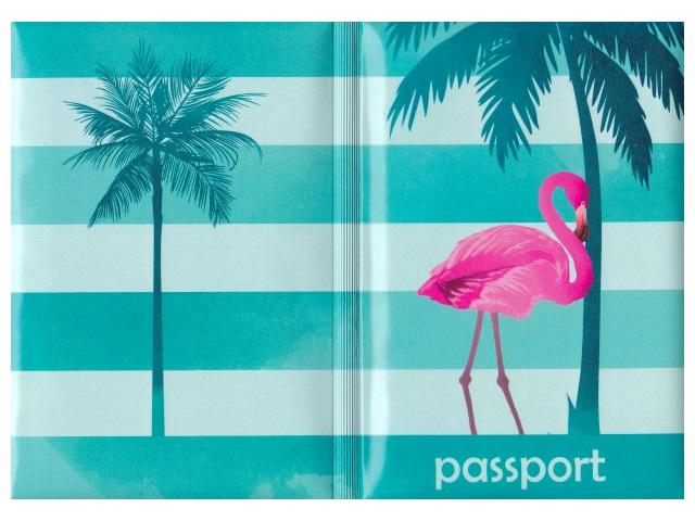 Обложка для паспорта ПВХ Miland Фламинго ОП-2144
