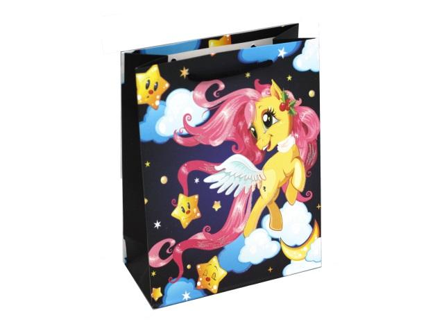 Пакет подарочный бумажный 18*24*8.5см Miland Единорог с розовой гривой ППК-5379