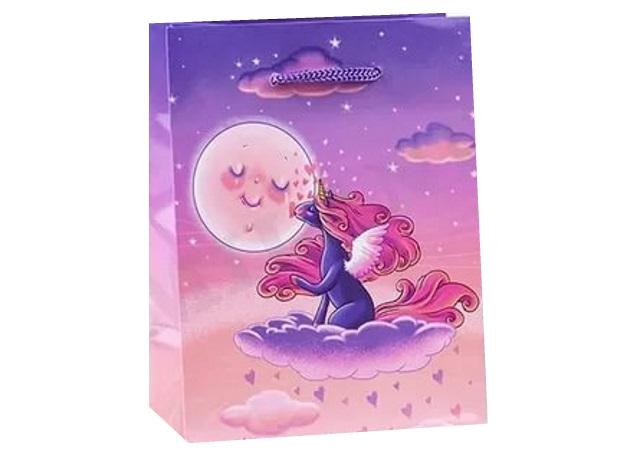 Пакет подарочный бумажный 40*47*14см Miland Единорог на облаке ПП-4767