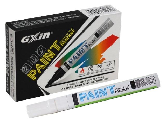 Маркер краска Paint Gixin Basir белый круглый 2-4мм G-862A
