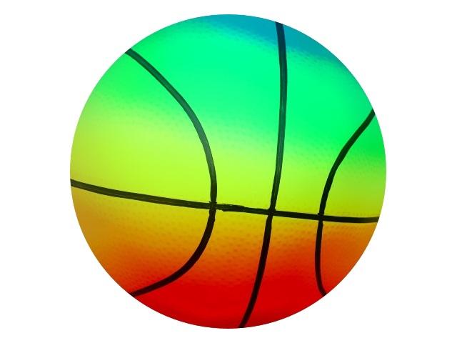 Мяч 23 см Рыжий кот Баскетбол неон AN01740