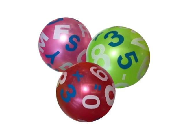 Мяч 25 см Рыжий кот Цифры 4307
