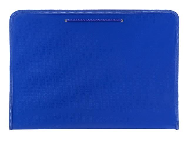 Папка на молнии А3 с ручками Prof Press синяя ПТР-3166