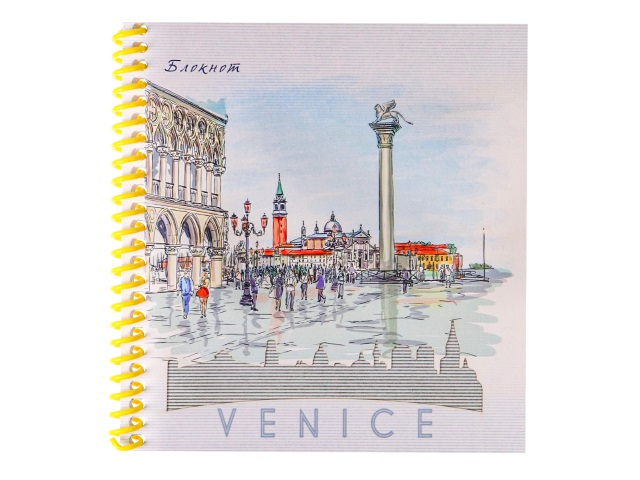 Блокнот А6 Prof Press спираль сбоку м/обложка  40л Набросок Венеции Б40-0642