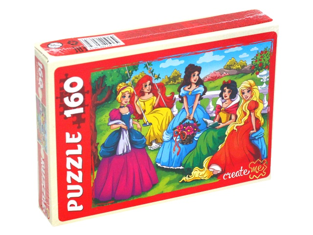 Пазлы  160 деталей Рыжий кот Пять принцесс ПУ160-0634