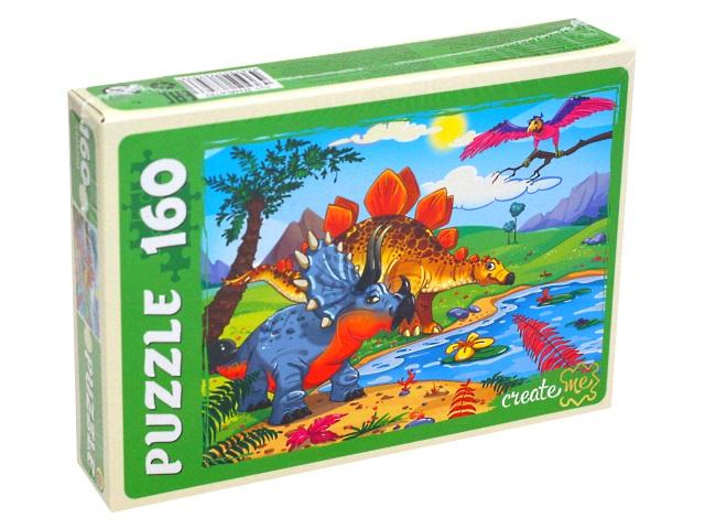 Пазлы  160 деталей Рыжий кот Время динозавров П160-6793