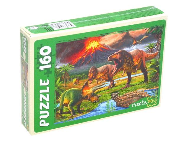 Пазлы  160 деталей Рыжий кот Мир динозавров ПУ160-2961