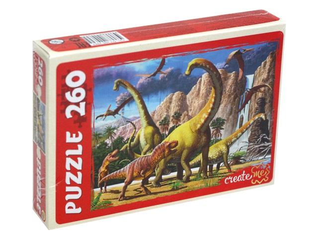 Пазлы  260 деталей Рыжий кот Мир динозавров ПУ260-2962