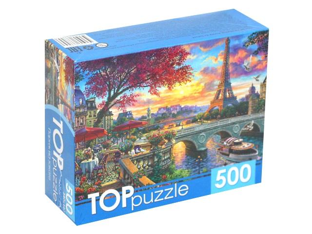 Пазлы  500 деталей TOPpuzzle Париж на закате ХТП500-6825