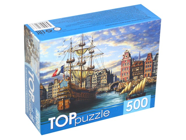 Пазлы  500 деталей TOPpuzzle Корабли в старом порту ХТП500-4236