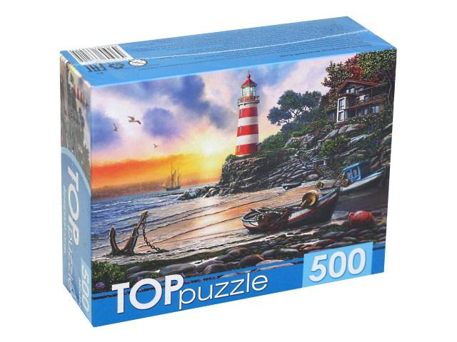Пазлы  500 деталей TOPpuzzle Вечерний маяк ХТП500-6821