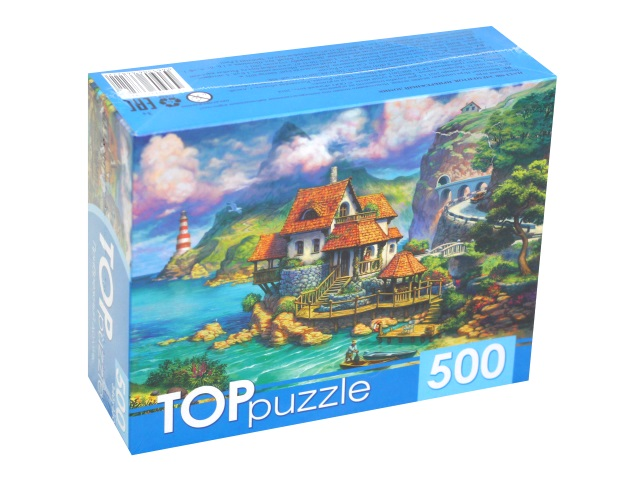 Пазлы  500 деталей TOPpuzzle Прибрежный домик ХТП500-6822\10