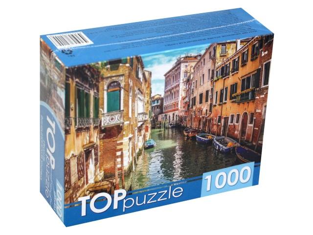 Пазлы 1000 деталей TOPpuzzle Италия Венецианская улочка ГИТП1000-2155
