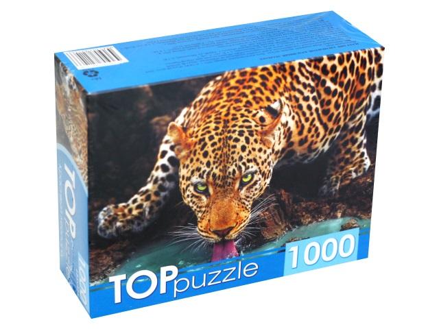 Пазлы 1000 деталей TOPpuzzle Красивый леопард ГИТП1000-2146\10