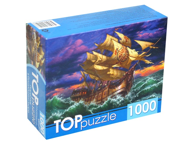 Пазлы 1000 деталей TOPpuzzle Парусник в бушующем море ХТП1000-4150