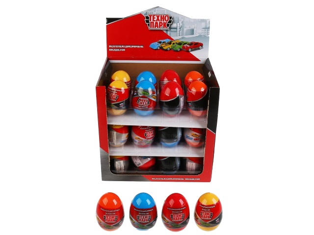 Машинка-сюрприз в яйце Технопарк Спорт 7см SB-16-63-CDU