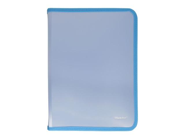 Папка для тетрадей А5 на молнии Silwerhof Gems голубая 671955