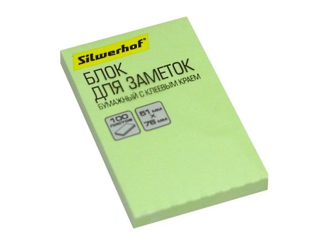 Стикер 51*76мм Silwerhof 100л зеленый 1188282