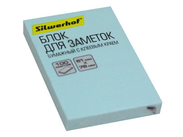 Стикер 51*76мм Silwerhof 100л голубой 1188283