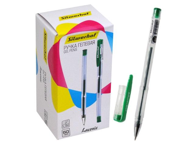 Ручка гелевая Silwerhof Laconic зеленая 0.7мм 026173-03