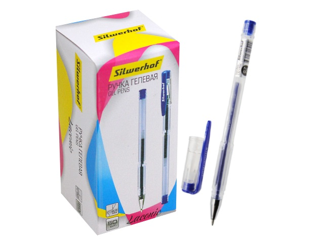 Ручка гелевая Silwerhof Laconic синяя 0.7мм 026173-01