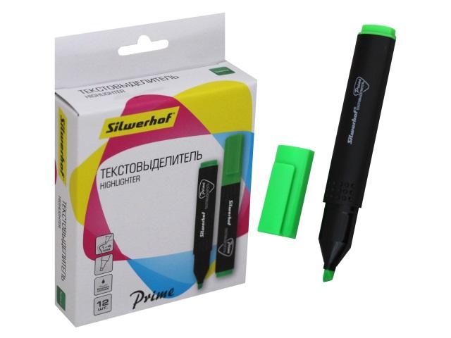Маркер текстовый Silwerhof Prime зеленый скошенный 1-4мм 480002