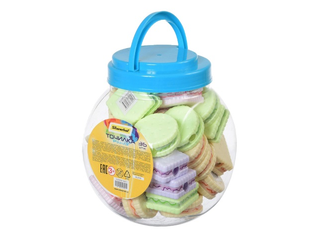 Точилка пластик Silwerhof Cookies 192011